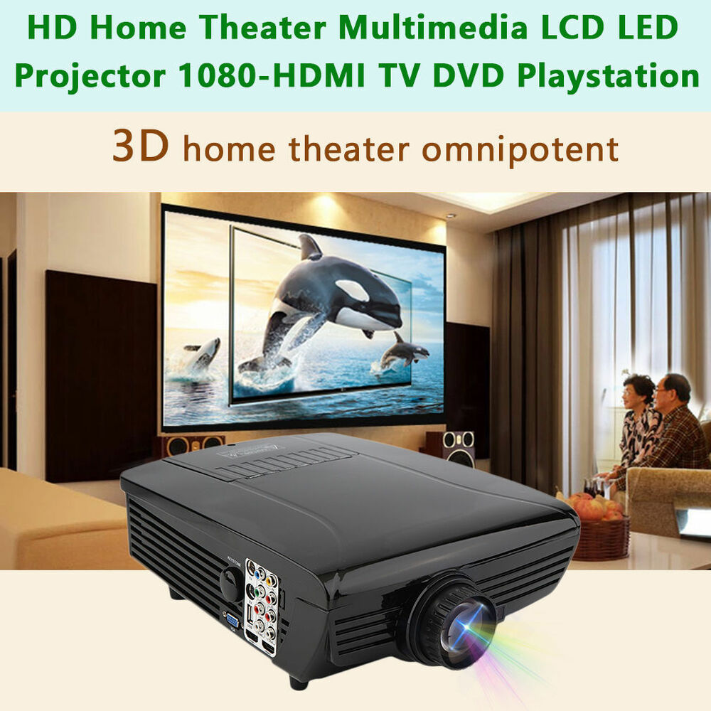 Hd Home Theater Multimedia Lcd Led Projector Dvd Tv: 7500LM HD Home Theater Multimedia LCD LED Projector 1080