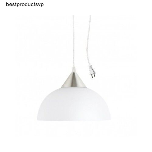 modern hanging light fixture pendant white kitchen plug in plastic adjustable ebay. Black Bedroom Furniture Sets. Home Design Ideas