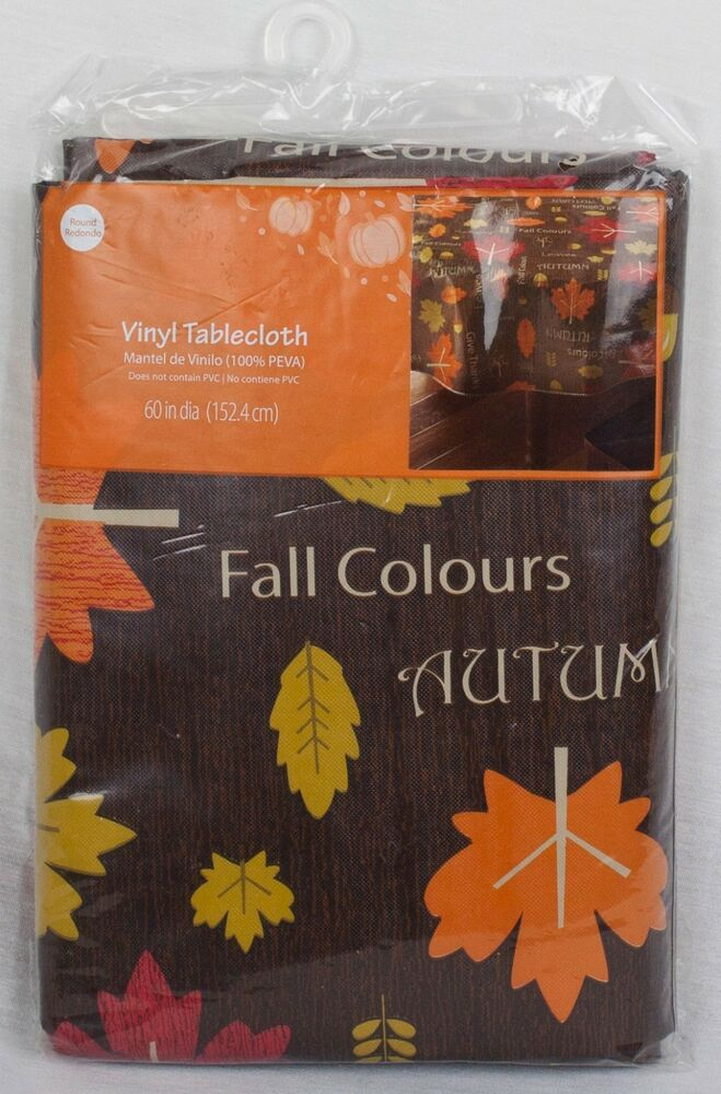 Vinyl Tablecloth Autumn Fall Thanksgiving Decor Design