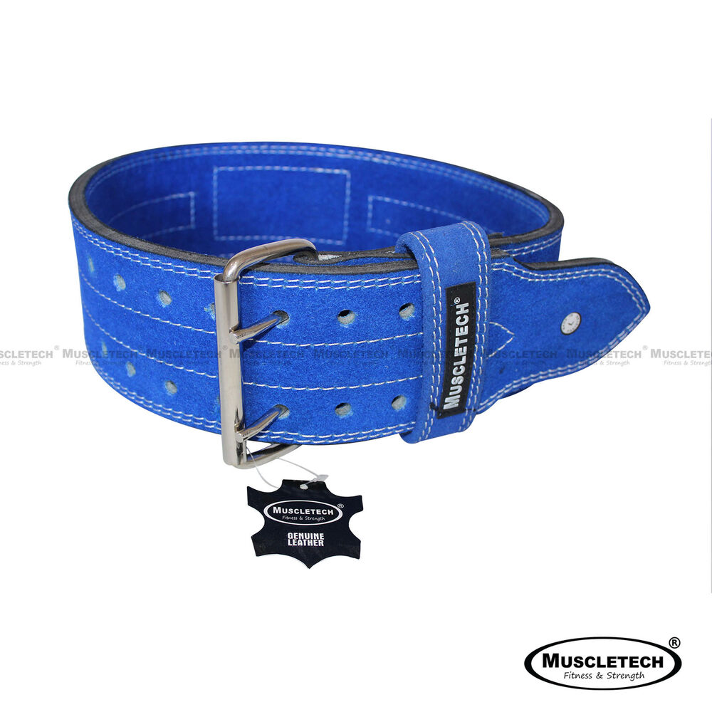 muscletech genuine leather weight lifting belt power