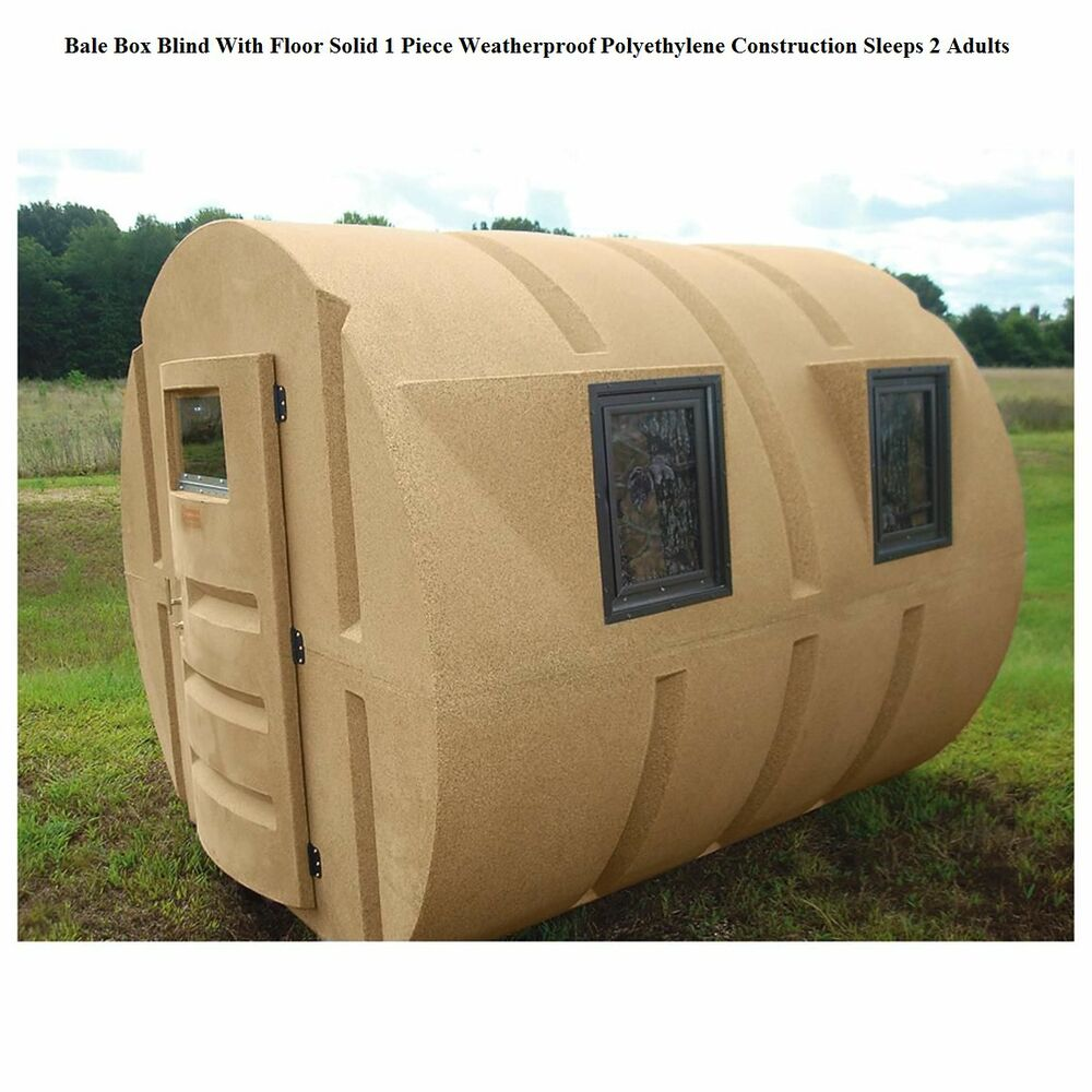 Deer Hunting Box Blind Hay Bale Condo Locks Duck Sniper