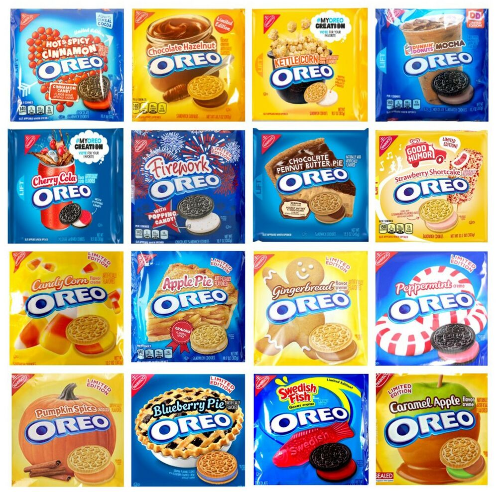 nabisco oreo limited edition sandwich cookies various