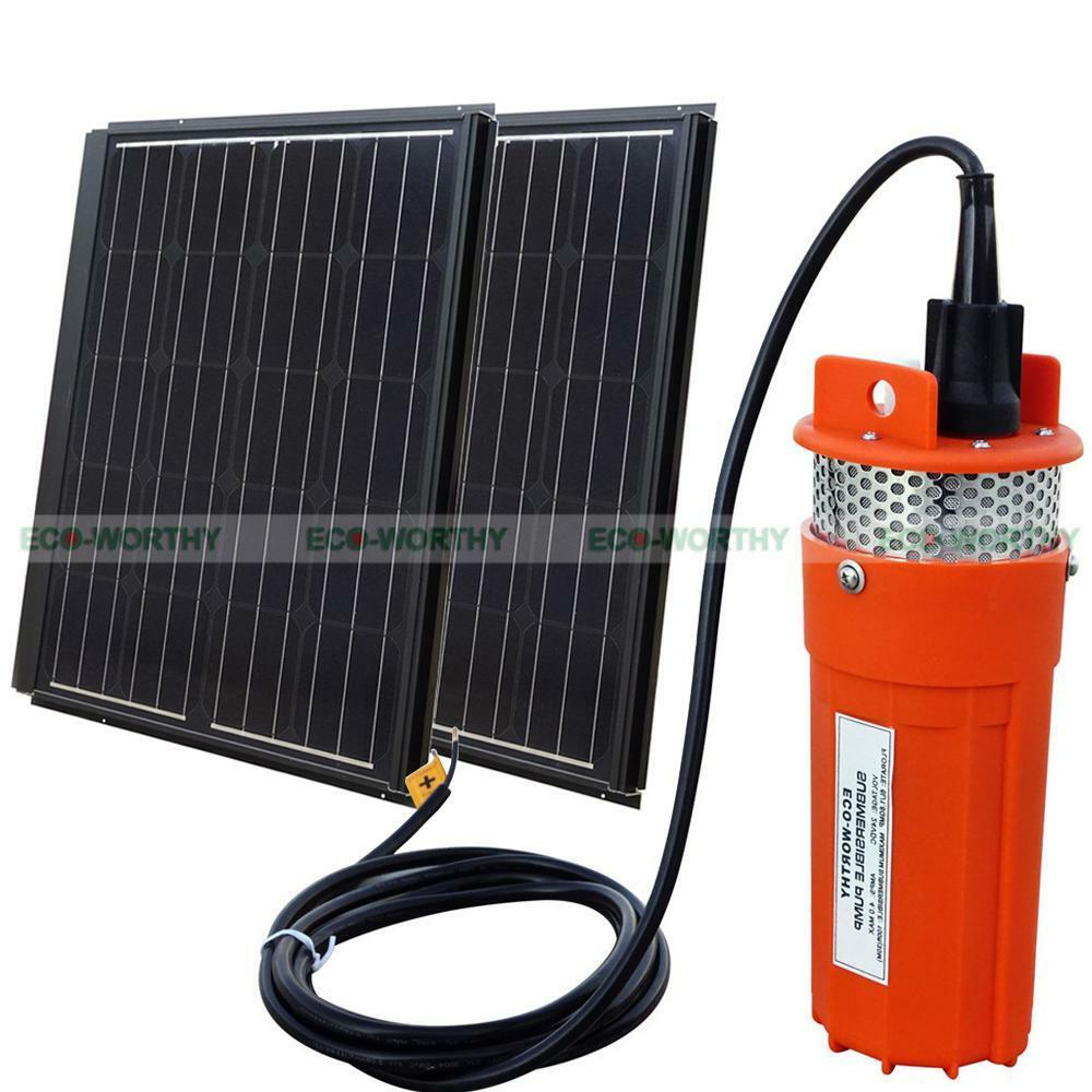 150w 2x90w pv solar panel with 24v fountain water pump for for Solar water pump pond