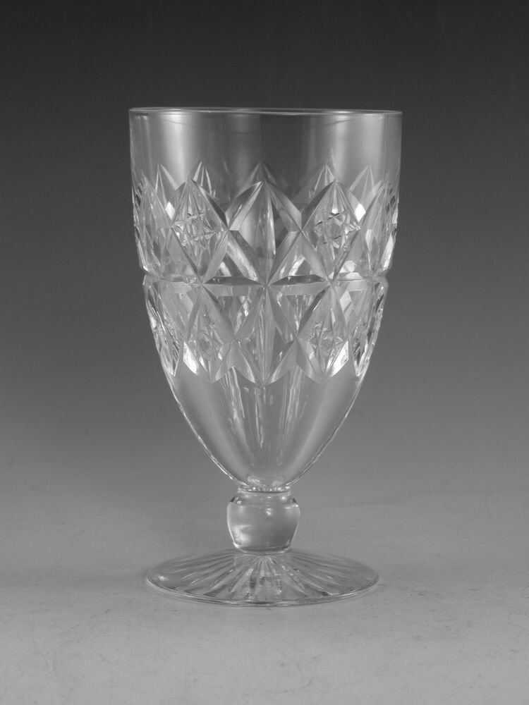 Tudor crystal mruk39 cut short stem wine glass glasses 4 1 4 ebay - Short stemmed wine glasses uk ...