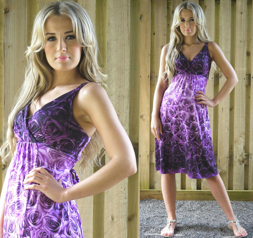 Dress evening holiday party wedding occasion purple uk plus size