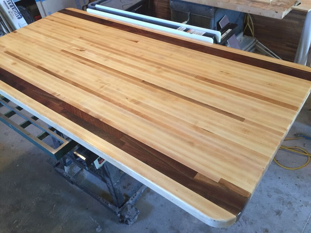 "Buy Butcher Block Table Top: Forever Joint Maple Walnut Mix Butcher Block Top 1-1/2""x36"