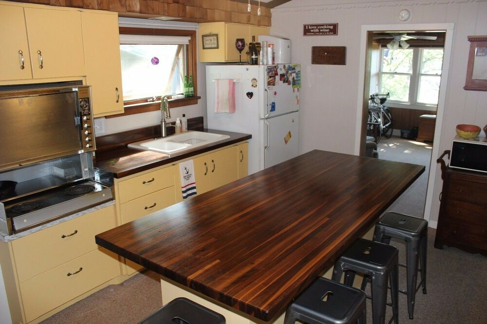 Forever Joint Walnut Butcher Block Top 1 1 2 X26 X72 Wood Kitchen Counter Top Ebay