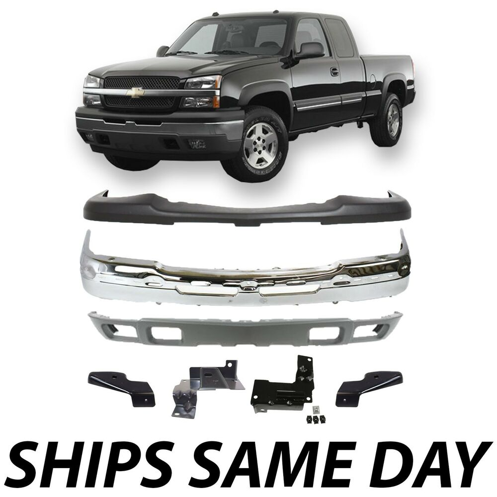 NEW Steel Front Bumper Kit W Brackets for 20032007