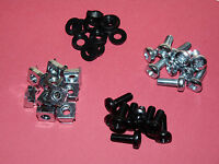 """Cage Nuts Kits / M6 19"""" Rack Mounts / 50 Pack / Cage Nuts, Screws, Cup Washers"""