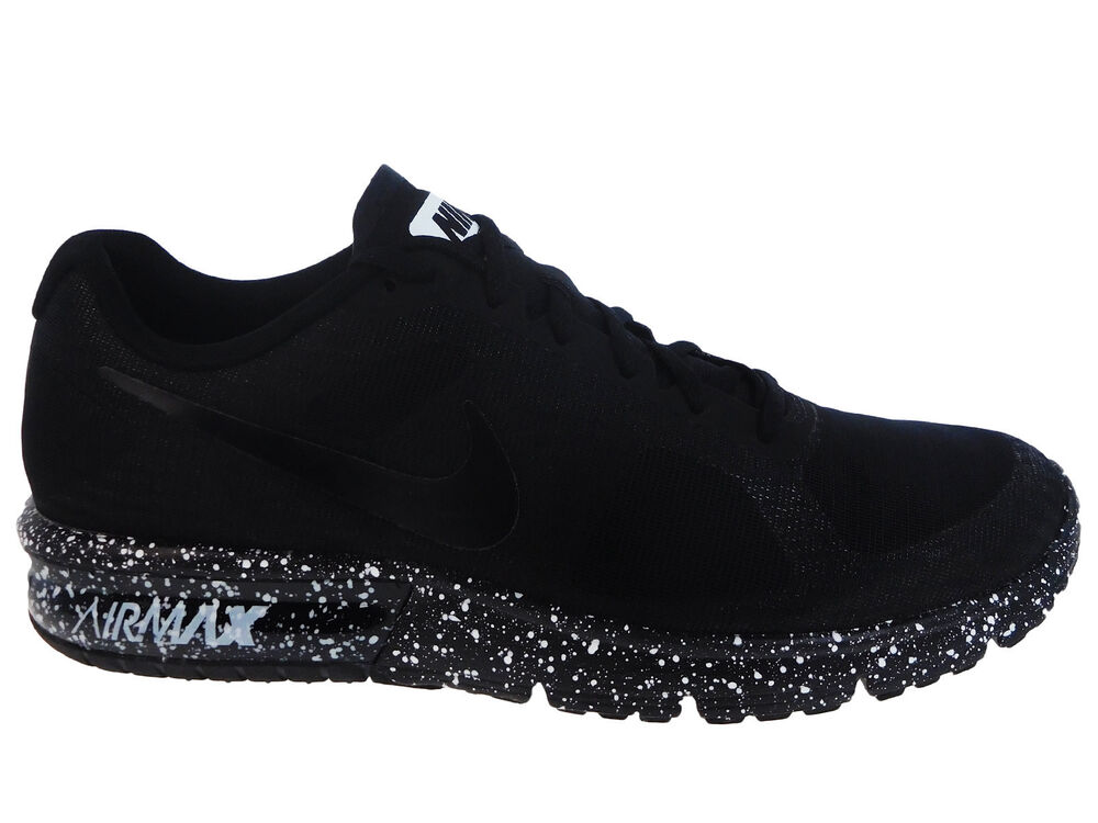 New Mens Nike Air Max Sequent Running Shoes Trainers Black