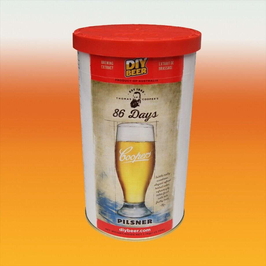 Coopers Pilsner 86 Day Lager 40 Pint Home Brew Beer Kit