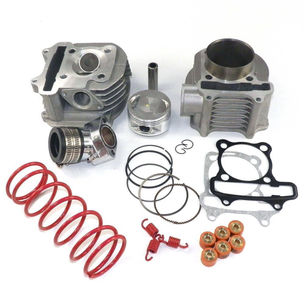performance big bore cylinder kit head 170cc 61mm gy6 125cc 150cc scooter ebay. Black Bedroom Furniture Sets. Home Design Ideas