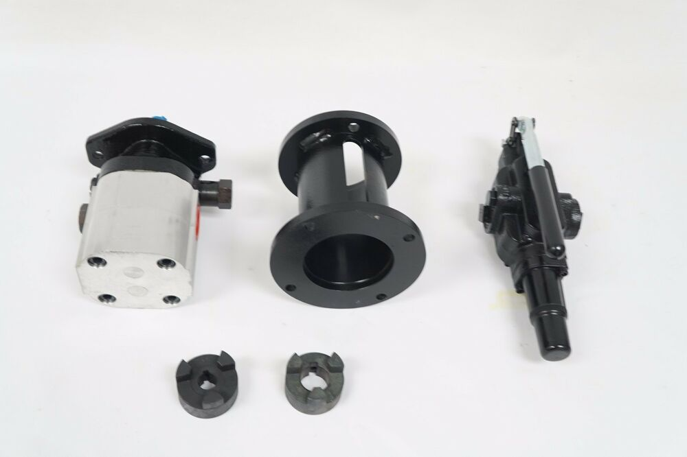 22 gpm 2 stage hydraulic log splitter pump mount and valve for Hydraulic pump motor combination