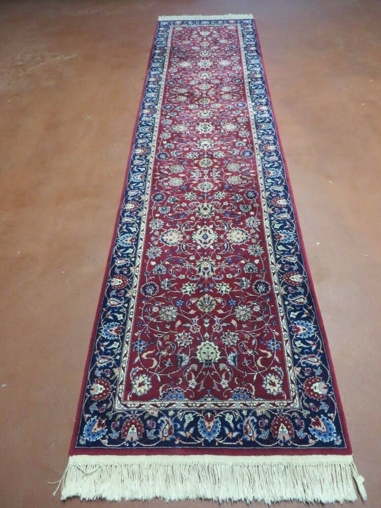 2 39 6 x 10 39 vintage hand made persian tabriz isfahan eslimi wool runner rug nice ebay. Black Bedroom Furniture Sets. Home Design Ideas