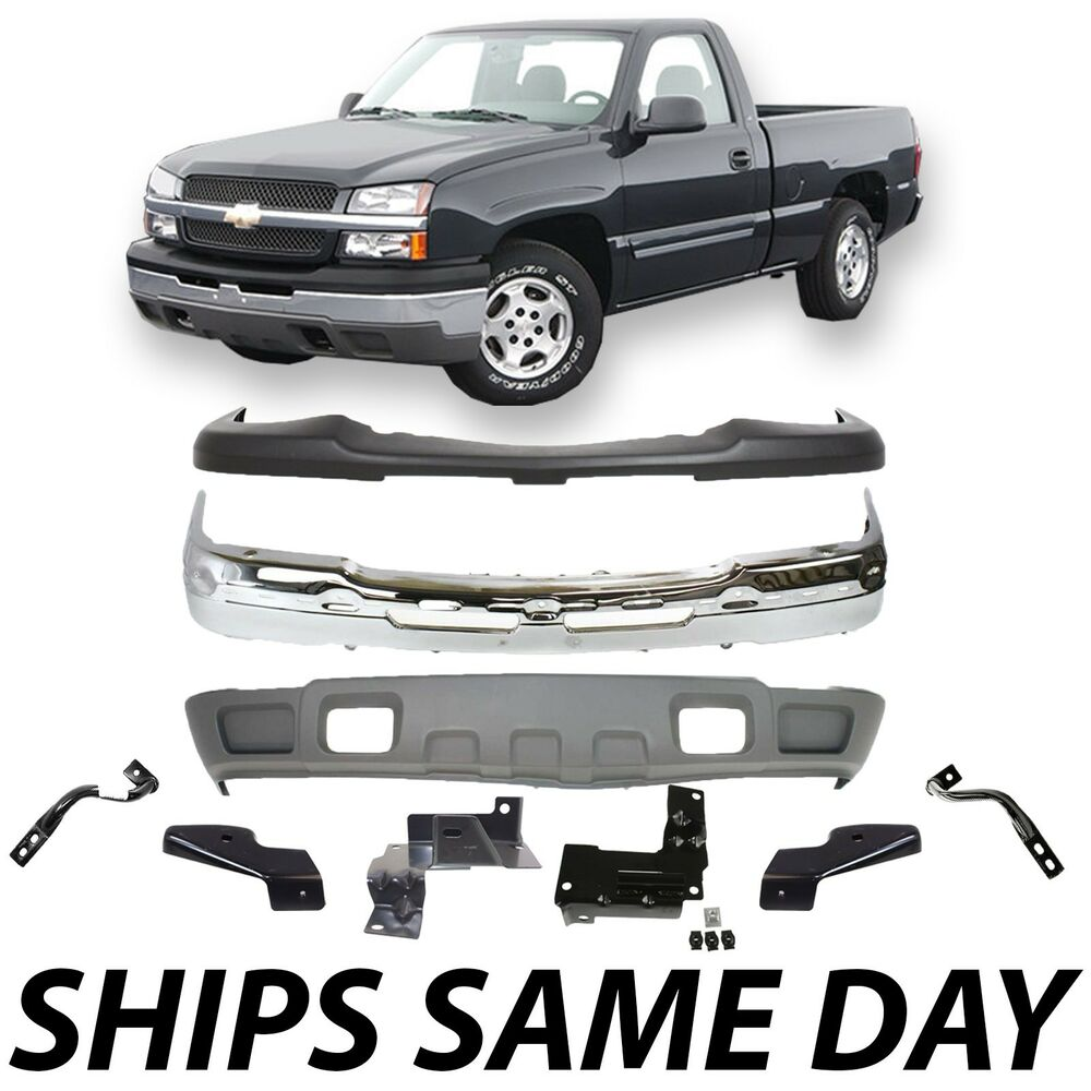 New Steel Front Bumper Kit With Brackets 2003