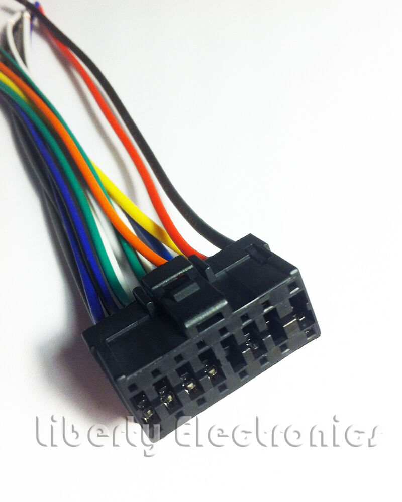 pioneer car audio wiring color codes new car stereo wire harness for pioneer deh-2400f | ebay