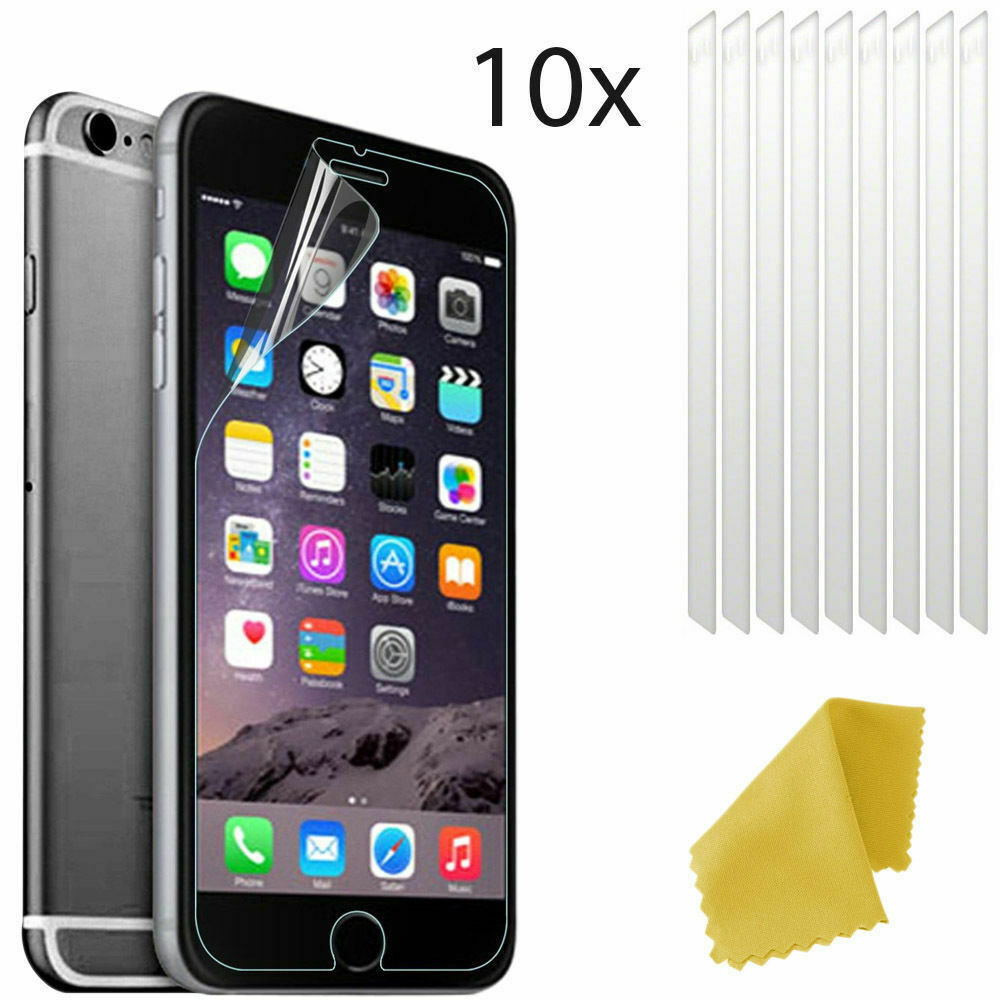 10 x clear plastic screen guard lcd protector film layer for apple iphone 7 plus ebay. Black Bedroom Furniture Sets. Home Design Ideas