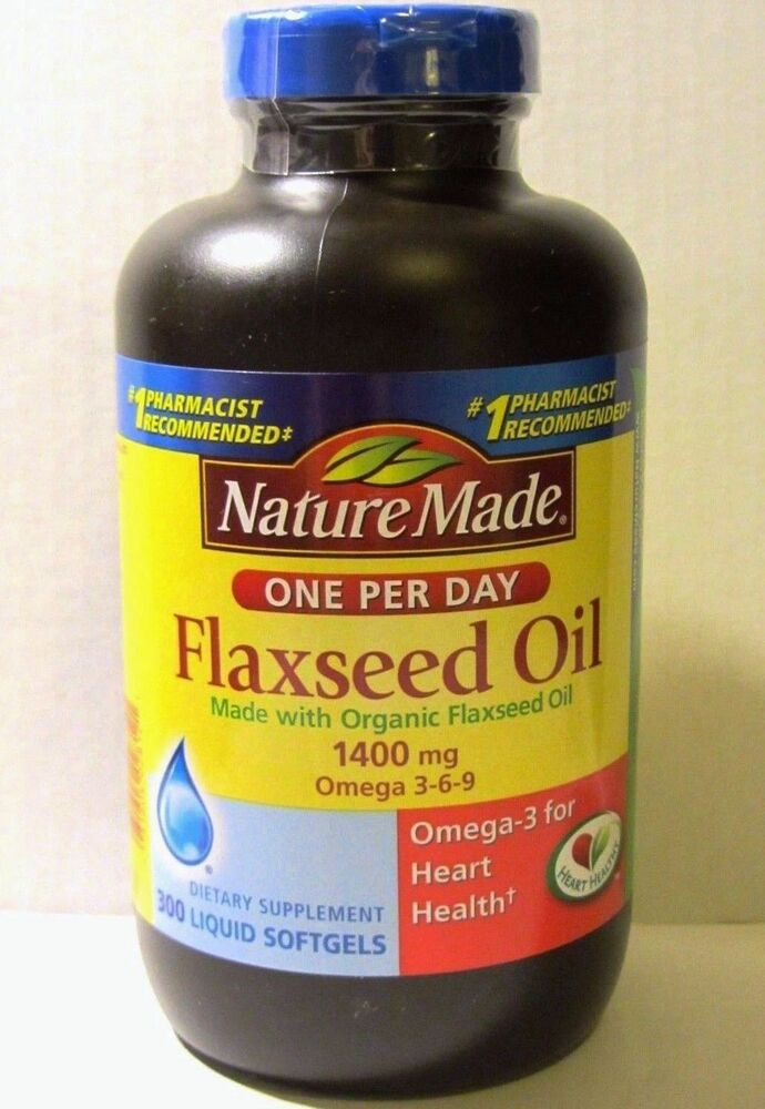 Nature Made Organic Flaxseed Oil   Mg Omega