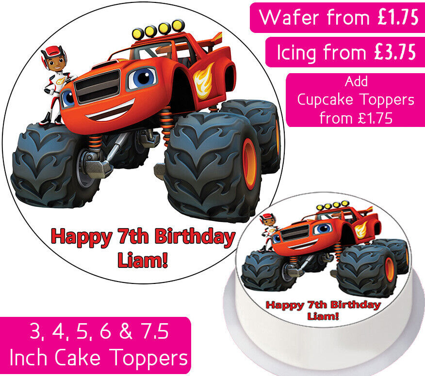 BLAZE AND THE MONSTER MACHINES EDIBLE WAFER & ICING ...