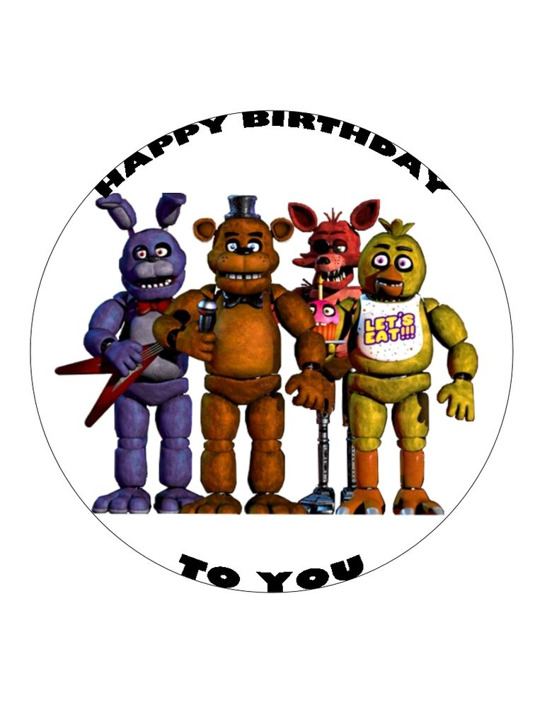 7 5 Quot 19cm Five Nights At Freddy S Personalised Wafer