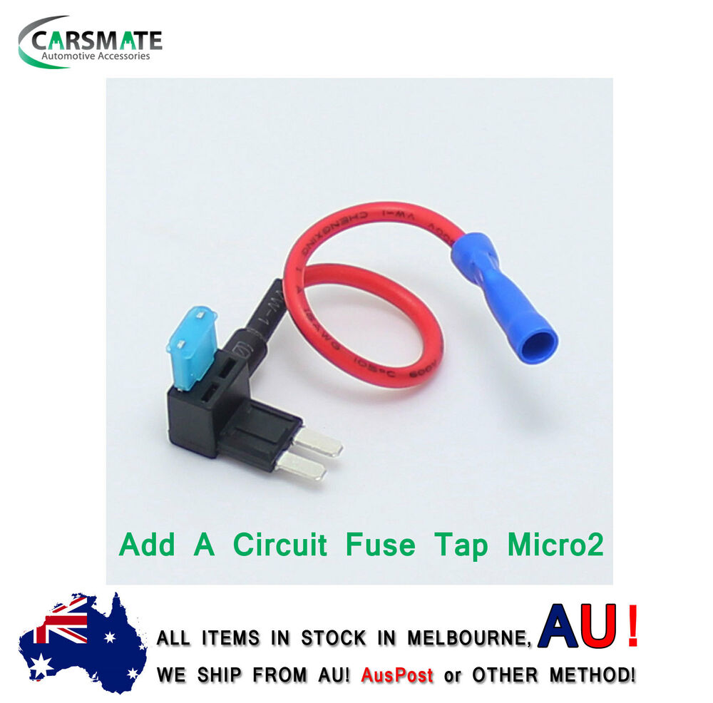New Add A Circuit Fuse Tap Micro2 Blade Holder Atm Apm 12v 1 X The Addacircuit Looks Like This Free Ebay
