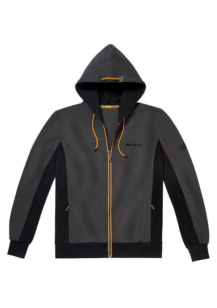 Mercedes benz men 39 s amg full zip jacket with hood ebay for Mercedes benz jacket