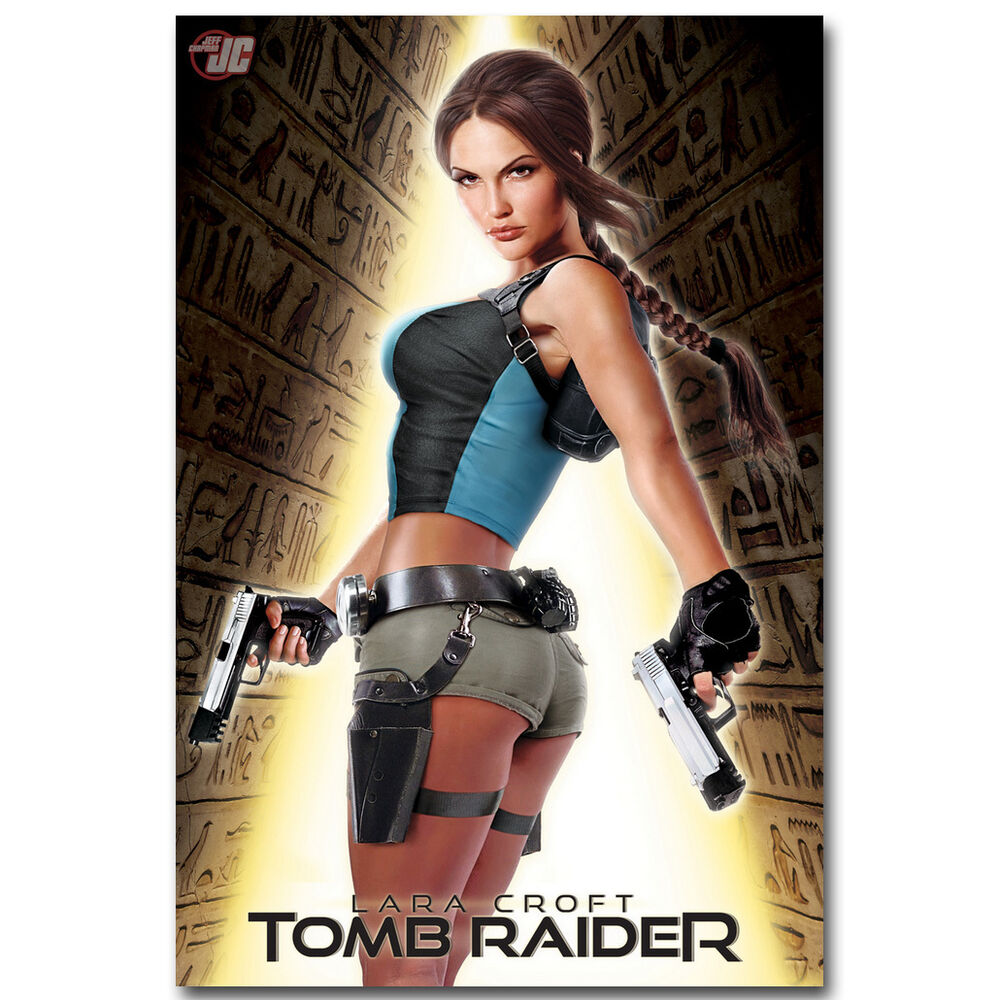 Rise Of The Tomb Raider Art Silk Fabric: Lara Croft Tomb Raider Movie Art Silk Poster 12x18 24x36