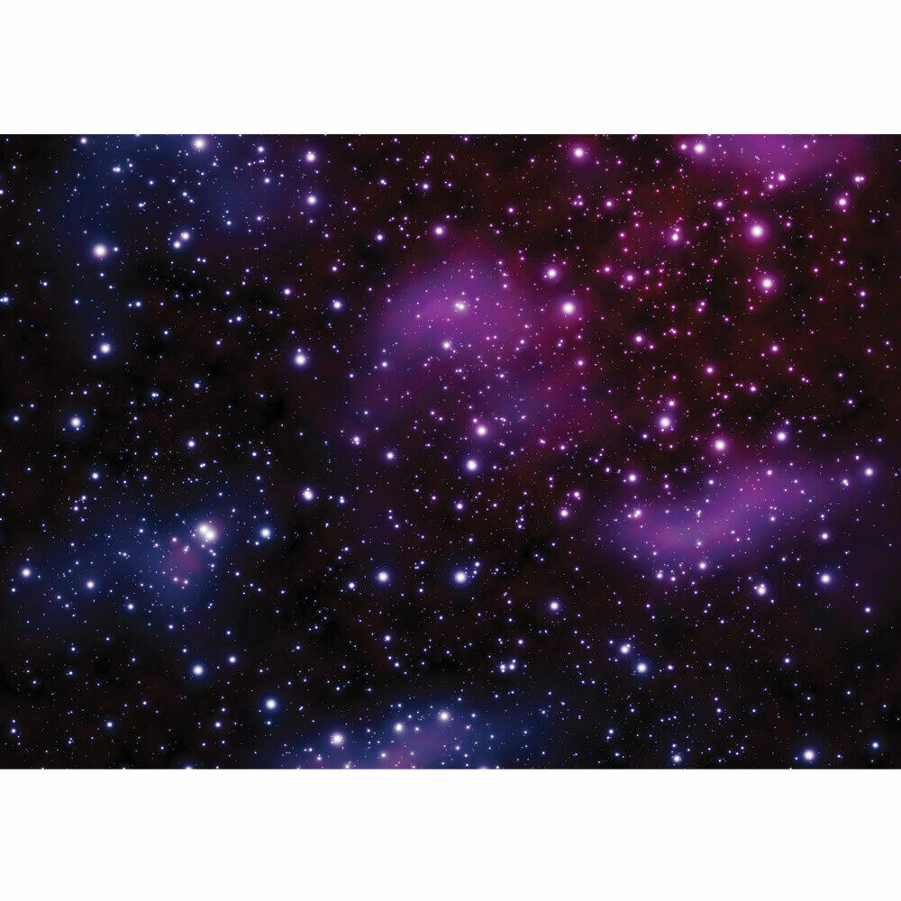 vlies fototapete no 499 sternenhimmel tapete galaxy sterne weltraum lila ebay. Black Bedroom Furniture Sets. Home Design Ideas