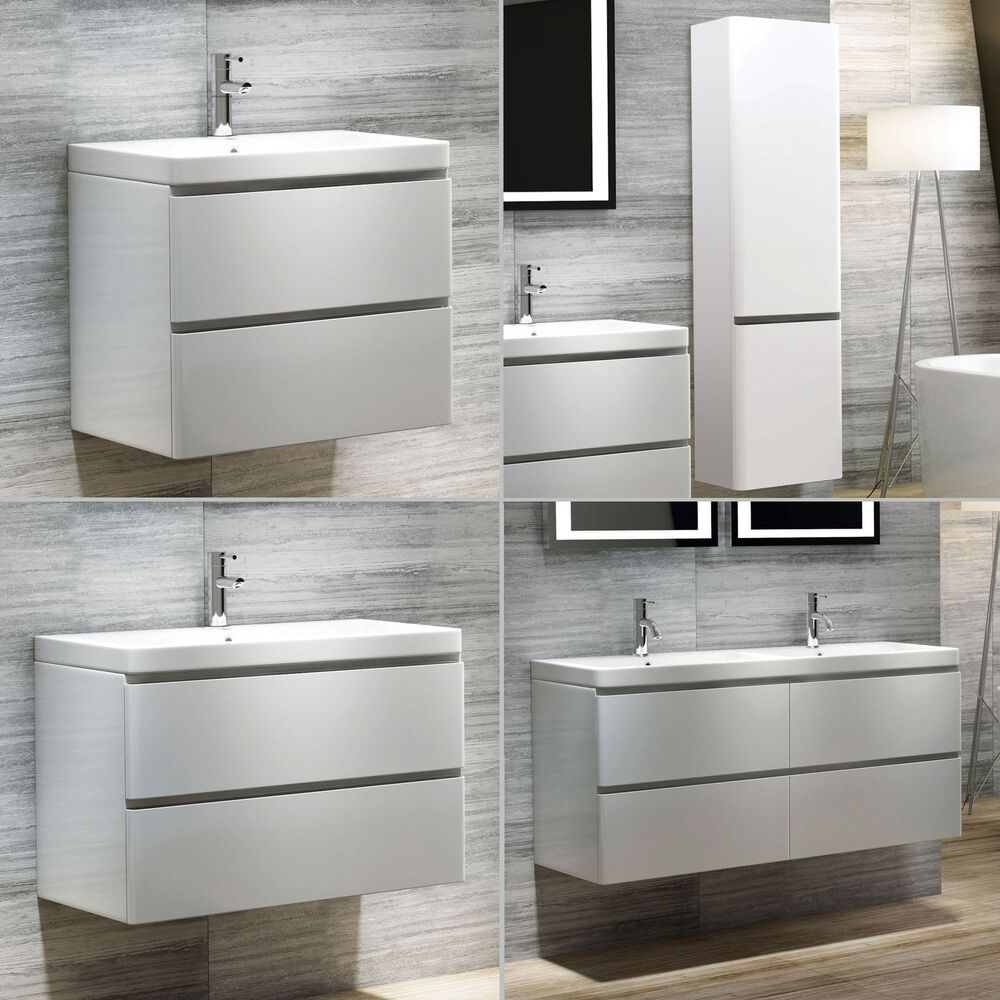 Ebay Bathroom Vanity With Sink: Modern Bathroom Vanity Unit & Stone Countertop Basin Sink