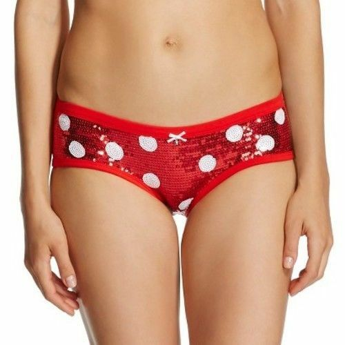 Red Jingle Bell Sequin Hipster Christmas Panties Underwear ...