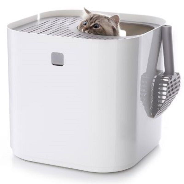 White modkat cat litter box modern pet toilet ebay - Modern kitty litter box ...