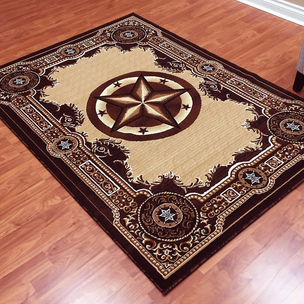 Texas Star Western Lodge Brown Area Rug **FREE SHIPPING