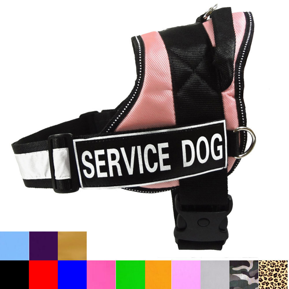 service harness vest with removable patches optional
