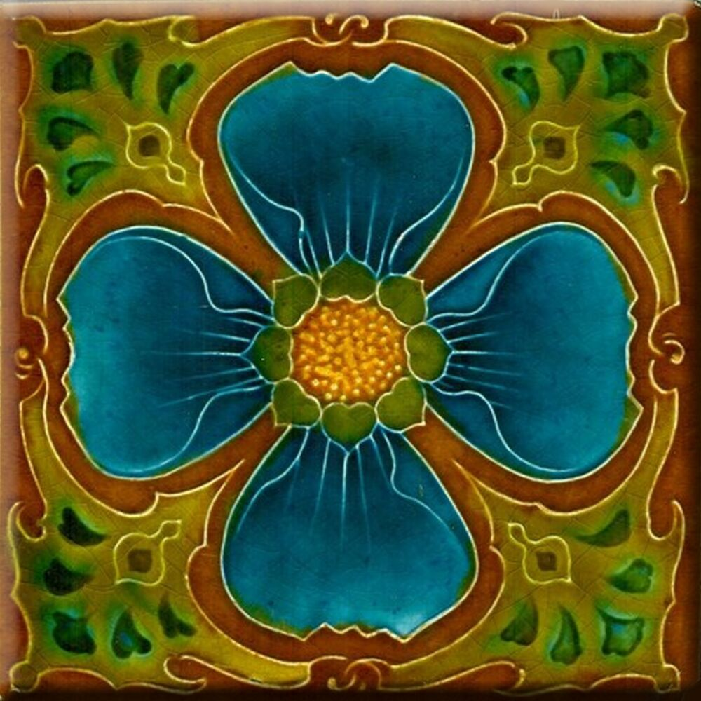 Art Nouveau Reproduction Decorative Ceramic Tile 160 Ebay