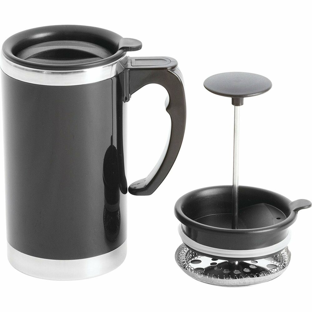 wyndham house 21oz stainless steel lined double wall travel french press mug 689737703974 ebay. Black Bedroom Furniture Sets. Home Design Ideas