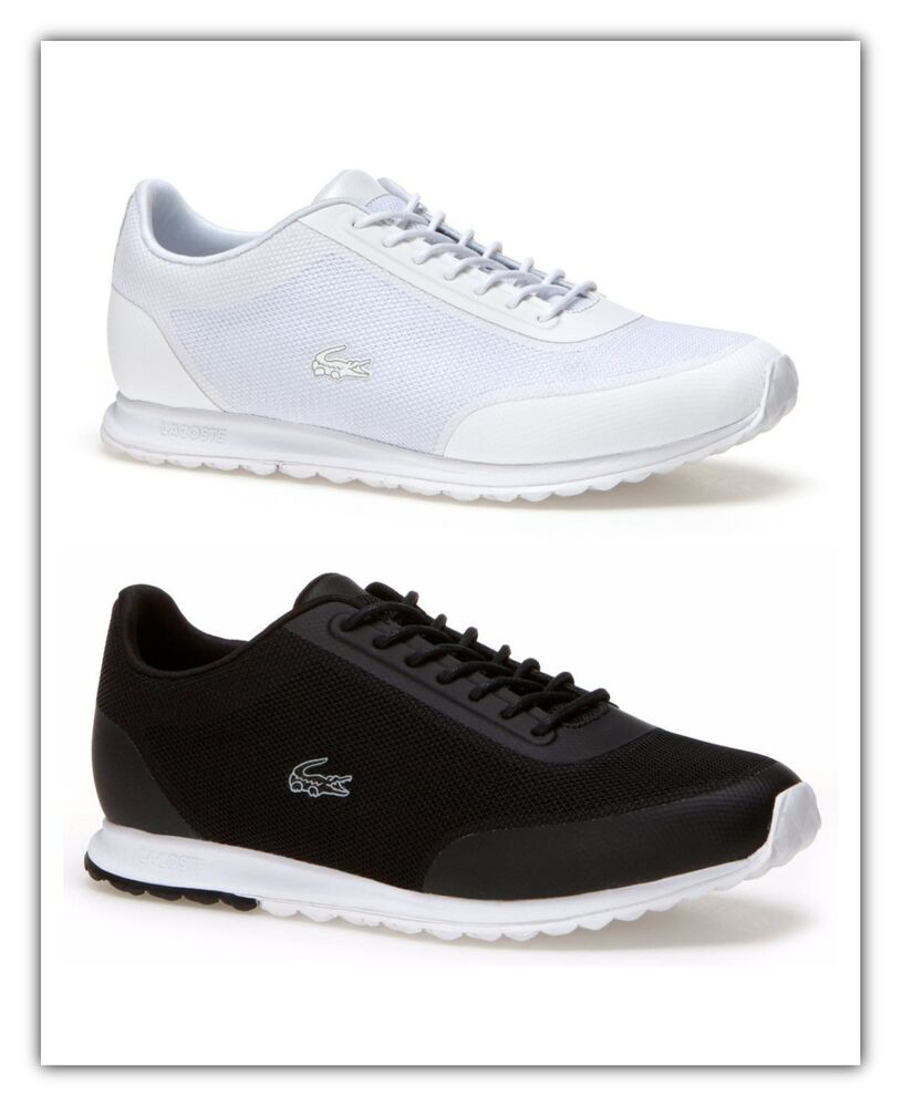 9d06b604b Details about Lacoste Womens Shoes Helaine Runner 116 3 Sneakers Black White  NEW