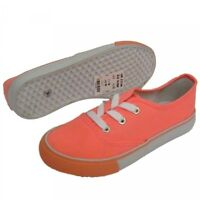 Ladies Coral Lace Up Pumps Sneakers Plimsolls Trainers Flat Shoes UK 3 4 5 6 7 8