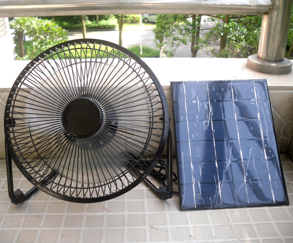 8 Usb Iron Fan Powered By 5w Solar Panel For Outdoor