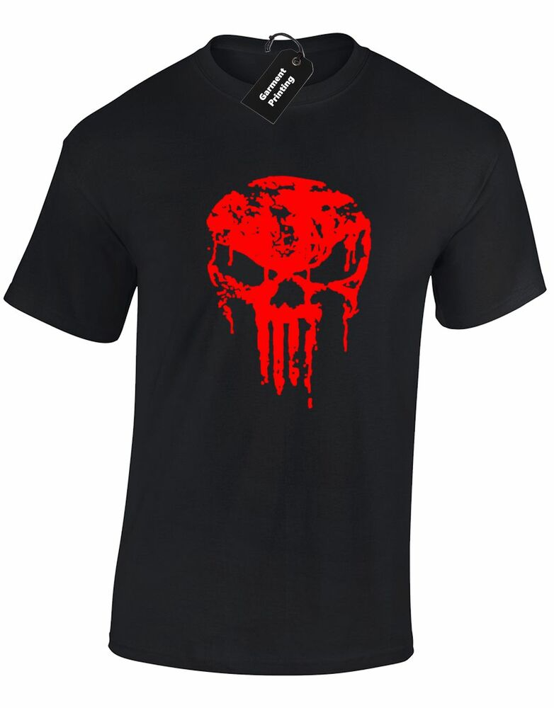 Skull gym wear mens t shirt cool training top bodybuilding for Best fitness t shirts