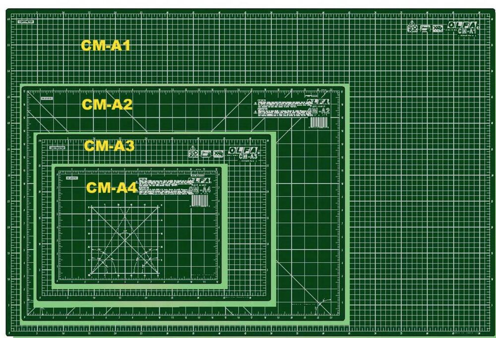 Olfa Cutting Mat Different Sizes Imperial Amp Metric Self