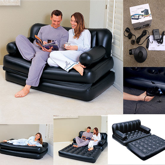 Inflatable Sofa Double Bed Camping Couch Air Mattress  : s l1000 from www.ebay.com size 556 x 556 jpeg 66kB