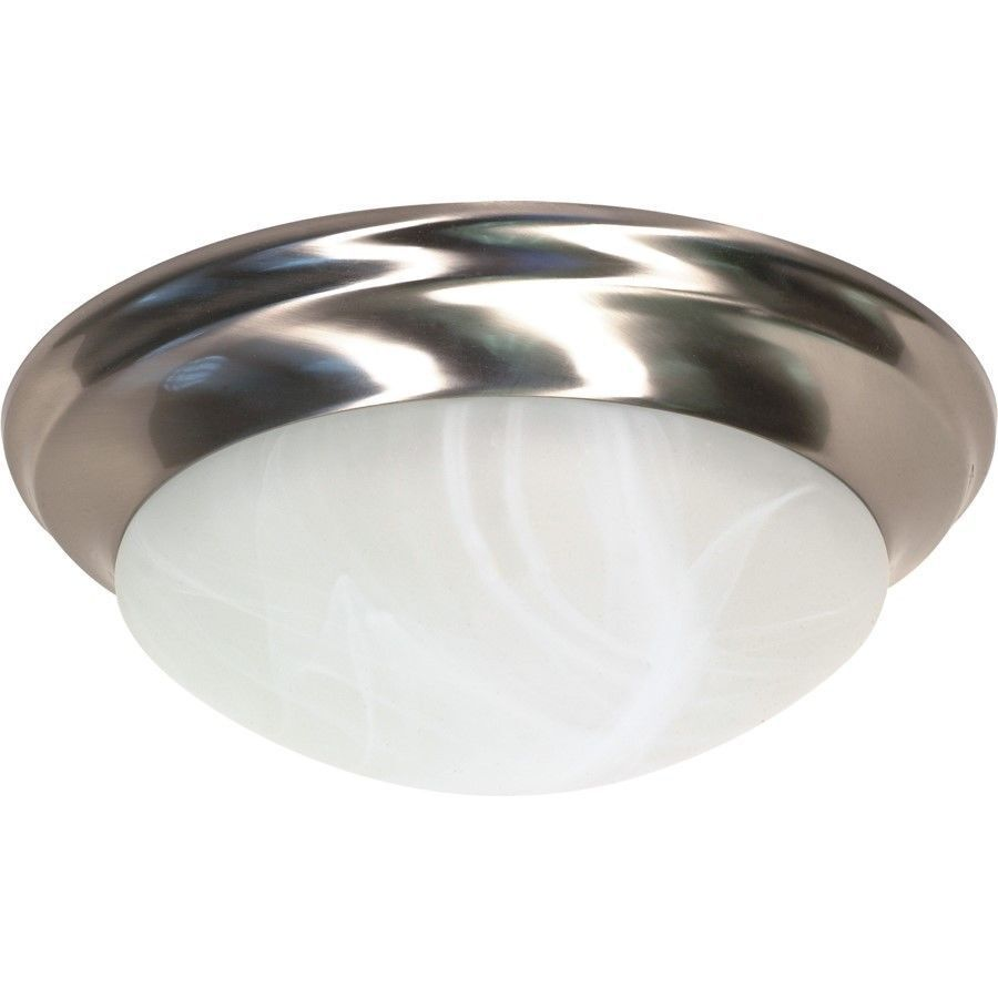 Dome Ceiling Lights: Nuvo 2 Light Twist & Lock Dome Medium Flush Mount Ceiling