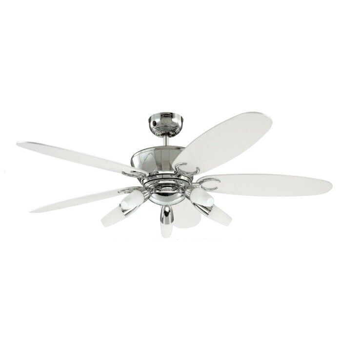 Arius 52 Westinghouse Chrome Ceiling Fan With Lights Remote Ebay