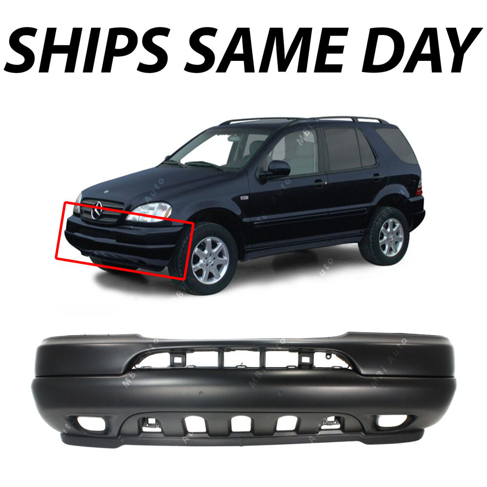 New primered front bumper cover fascia for 1998 2001 for Mercedes benz front bumper parts