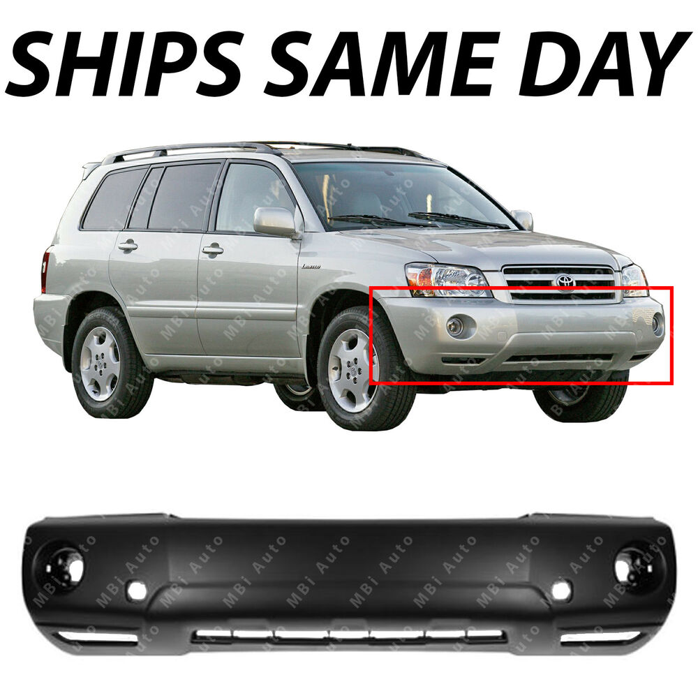 Pictures Of Toyota Highlander: Front Bumper Cover Replacement For 2004