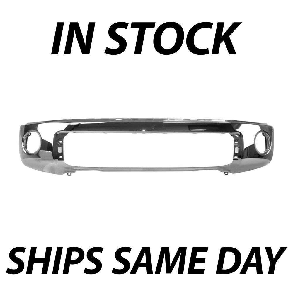 new chrome steel front bumper for 2007 2013 toyota tundra truck w park assist ebay. Black Bedroom Furniture Sets. Home Design Ideas