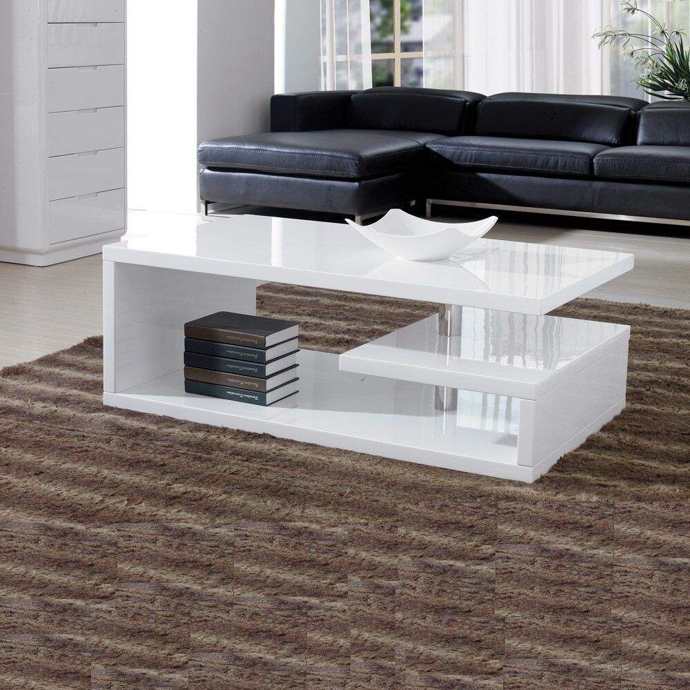 Annika White Gloss Coffee Table: Designer Square Coffee Table White High Gloss Finish!!Free