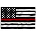 Thin Red Line 3x5 Ft American USA Flag Patriotic Honoring Firefighters Flags