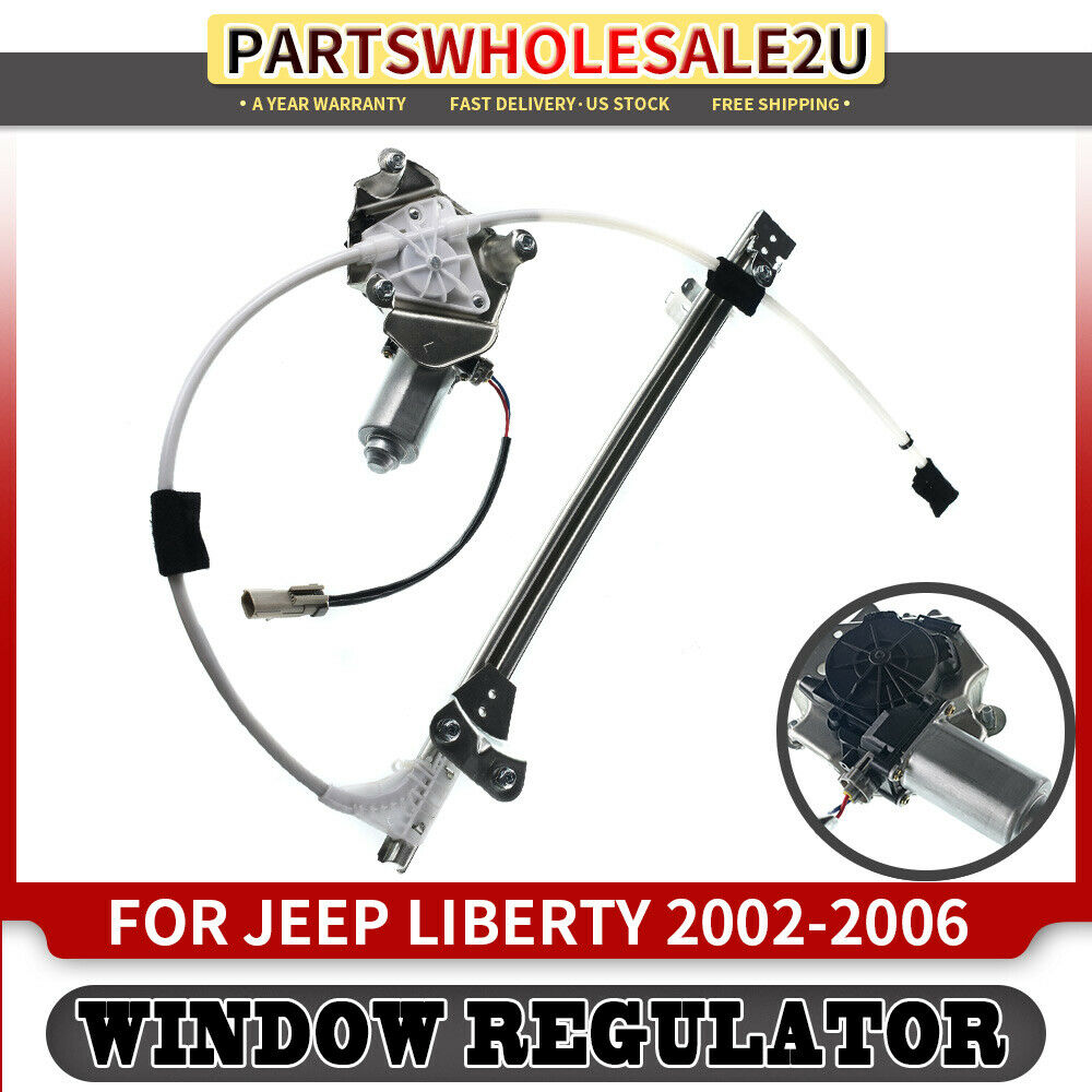 Rear left driver side power window regulator w motor for for 02 jeep grand cherokee window regulator