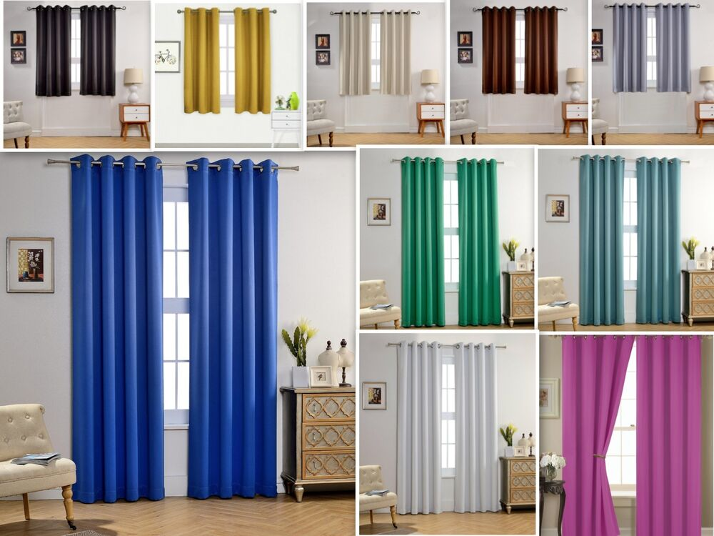 empire amber solid thermal blackout grommet window curtain panel extra wide 54 ebay. Black Bedroom Furniture Sets. Home Design Ideas